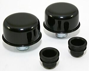 Black Push In Valve Cover Breather Set New Pair For Steel Covers W 1 25 Holes