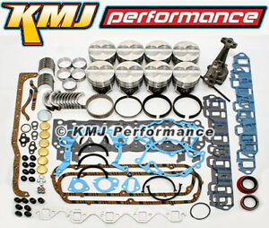 Small Block Ford 289 302 Engine Rebuild Overhaul Kit W Pistons Rings