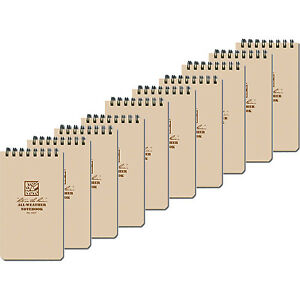 Rite In The Rain 935t Tan Tactical Pocket Notebook 3 inch X 5 inch 10 pack