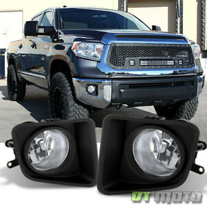 For 2014 2018 Toyota Tundra Clear Bumper Fog Lights Lamps W Switch Left right