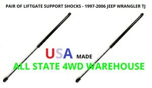 Jeep Wrangler Tj Rear Factory Hardtop Window Hatch Liftgate Support Arms Shocks