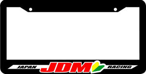Black Japan Racing Jdm Wakaba Leaf License Plate Frame