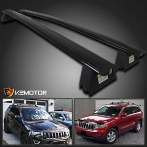 2011 2018 Jeep Grand Cherokee Black Front Rear Roof Top Rack Cross Bar