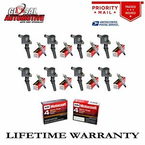 Set Of 8 Ignition Coil Dg508 Motorcraft Spark Plug Sp479 For Ford 4 6l 5 4l