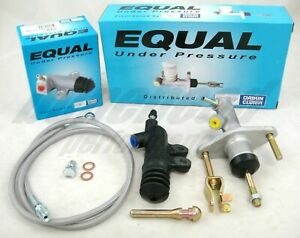 Exedy Slave Master Cylinder Stainless Clutch Line Kit 1992 1995 Honda Civic