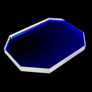 Blue Reflective Polygonal Shaped Optical Laser Beam Splitter