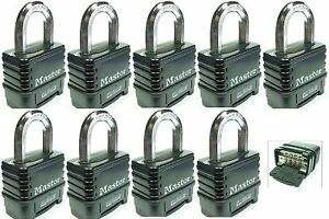 Combination Lock Set By Master 1178d lot 9 Resettable Weather Sealed Carbide