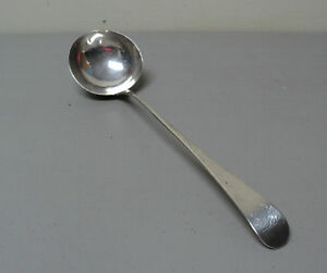 Wonderful 18th C Antique English Sterling Silver Punch Ladle C 1777
