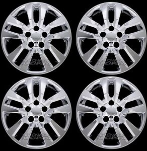 4 Chrome 02 18 Nissan Altima 16 Wheel Covers Rim Hub Caps Skins 5 Bolt Snap On