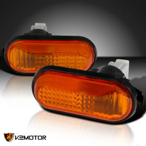 For 1992 1995 Honda Civic Amber Dome Side Marker Fender Signal Lights Left Right