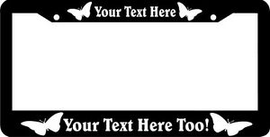 Butterfly Custom Personalized Butterflies Butter Fly License Plate Frame
