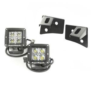Rugged Ridge Windshield Led Square Light Kit For 07 17 Jeep Wrangler Jk 11027 10