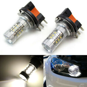 Xenon White 80w H15 Cree Led Bulbs For Audi Bmw Mercedes Vw For Daytime Lights