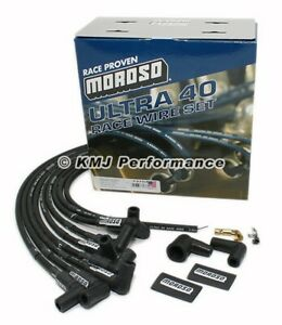 Moroso 73707 Black Ultra 40 Spark Plug Wires Sbc Small Block Chevy Over Vc Hei