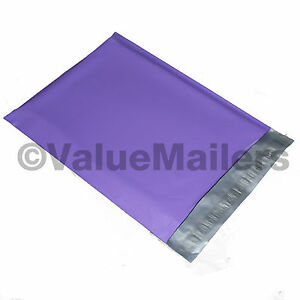 100 12x15 5 Purple Poly Mailers Shipping Envelopes Couture Boutique Quality Bags