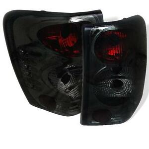 Pair Euro Altezza Tail Lights Fits Jeep Grand Cherokee 1999 2004 Smoke Lens