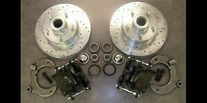 Mustang Ii 2 Street Rod Big Disc Brake Kit Slotted Cross Drilled Rotors Ford