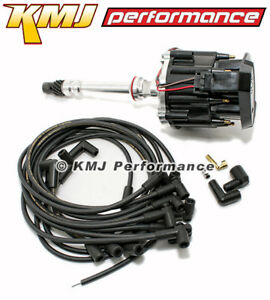 Sbc Chevy 350 Hei Distributor With Moroso Plug Wires 90 Complete Kit Black Out