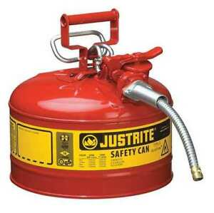 Type Ii Safety Can 12 In red 2 1 2 Gal Justrite 7225120