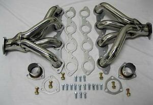 Big Block Hugger Chevy Stainless Exhaust Headers Tight Fit Street Rod 396 454