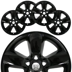 4 Black Dodge Ram 1500 Truck 20 Wheel Skins Hub Caps 5 Spoke Alloy Rim Covers G