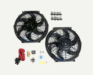 10 Dual Electric Radiator Fan With 185 Degree Temperature Switch Relay Kit New