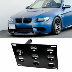 Front Bumper Tow Hook License Plate Mounting Bracket Holder For Bmw 1 3 X5 X6