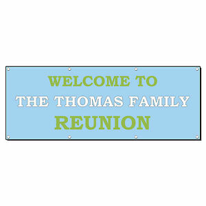 Welcome To Family Reunion Custom Personalized Banner Sign 4 X 8 W 8 Grommets