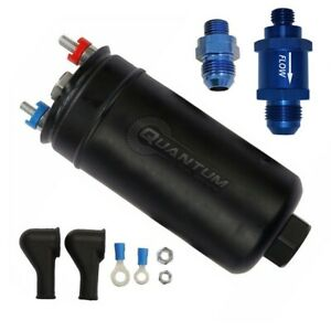 Quantum 380lph Inline External Fuel Pump W 8an Fittings check Valve 50 1009 044