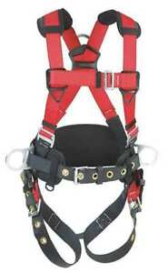 Protecta 1191208 Full Body Harness S 420 Lb Red gray