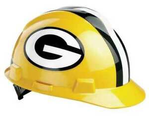 Msa 818395 Nfl V gard Hard Hat Green Bay Packers Green yellow