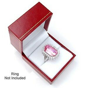 Classic Cartier Design Leatherette Red Ring Jewelry Gift Box