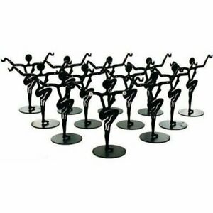 12 Black Metal Earring Dancer Jewelry Showcase Display Stands 3 25 New
