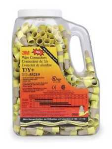 3m T y jug Performance Plus Wire Connector 22 12 Awg Tan yellow 500 To Jug