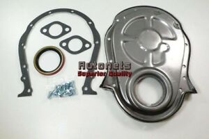 Bbc Chevy Big Block 396 427 454 Raw Steel Timing Chain Cover Gaskets Bolts