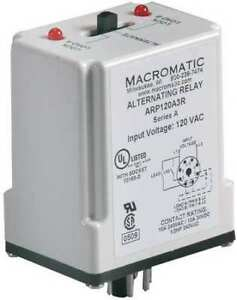 Macromatic Arp120a3r Alternating Relay dpdt 120vac 10a 8 Pin