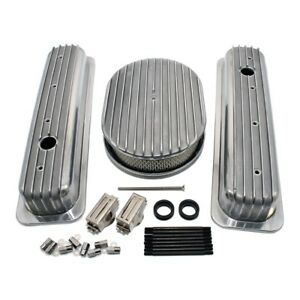Chevy 350 Short Retro Finned Vortec Tbi Valve Covers Air Cleaner Dress Up Kit