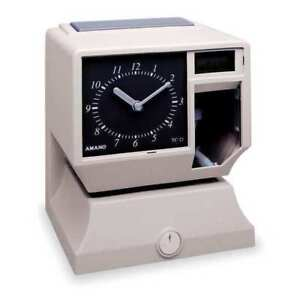 Time Clock Analog Dial Lcd Display Amano Tcx 11 5477