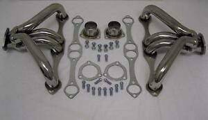 Small Block Chevy Tight Fit Stainless Header Angle Plug Heads 1 5 8 Tube Lt1
