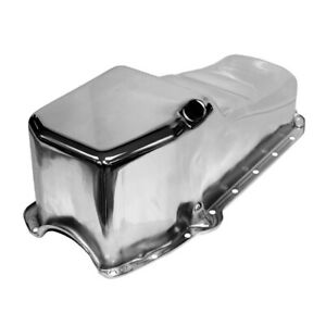 Sbc 58 79 Stock Capacity Chrome Oil Pan 4qt 305 327 350 400 Chevy Small Block