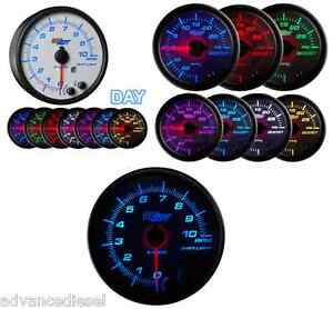 Glowshift White 7 Color 3 34 In Dash Tachometer Gauge Gs W716