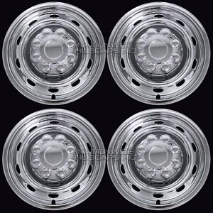 4 Fits Dodge Ram 17 Chrome 8 Lug Wheel Skins Hub Caps Simulators Center Covers