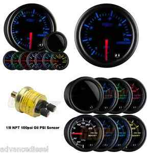 Glowshift Tinted 7 Color Bar Oil Pressure Gauge Gs t704 bar