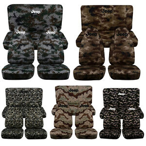 1997 2002 Camouflage Jeep Wrangler Front Rear Seat Covers With Design