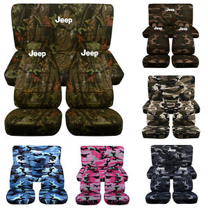 1987 2002 Jeep Wrangler Camouflage Front Rear Seat Covers W Design Choose Camo