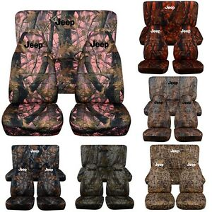 1987 2002 Camouflage Jeep Wrangler Seat Covers Front Rear With Design