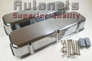Big Block Chevy Bbc Polished Aluminum Valve Covers No Hole Tall 396 427 454 502