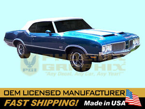1970 Gm Oldsmobile 442 W29 Paint Stencil Decals Stripes Kit W25 ai Hood