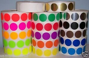 17 Rolls 17 Colors 1 2 Circle Color Coded Label Sticker Dot 500 Per Roll