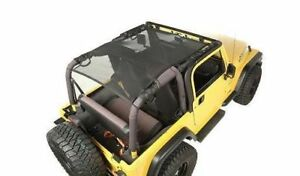 Eclipse Sun Shade Full Cover Black Mesh Jeep Wrangler Tj 1997 To 2006 13579 08